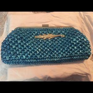 Lillly Pulitzer straw alligator bag.